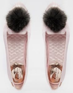 Ted Baker Iveye Pink Pom Pom Slippers ($105) http://www.mtv.com/news/2001882/marabou-shoes/