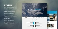 Ether - One Page Creative Portfolio by lightwingco This theme has been developed into HTML, check it out!Description ETHER PSD is a high quality One Page portfolio design; its spaci