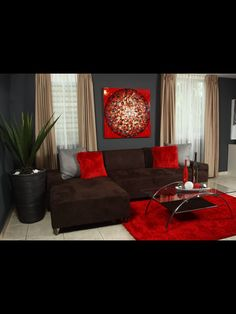 Red And Brown Living Room Decor elements can add a contact of favor and design to any residence. Red And Brown Living Room Decor can mean many things to many… Living Room Ideas Red And Brown, Red Living Room Decor, Living Room Paint, New Living Room, Living Room Sofa, Living Room Designs, Small Living, Modern Living, Living Room Accessories