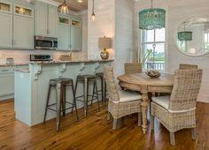 coastal kitchen and dining area | Pat O'Neal Interiors