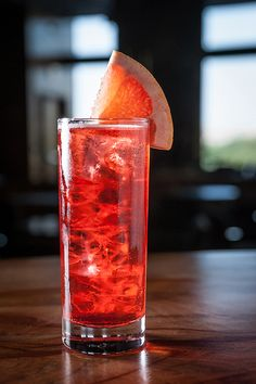 Hibiscus Paloma - now available at Lilium. Made with hibiscus infused tequila, aperol, agave nectar, fresh lime, grapefruit and a splash of champagne.