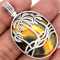 Indonesian-Bumble-Bee-925-Sterling-Silver-Pendant-Jewelry-SP141111