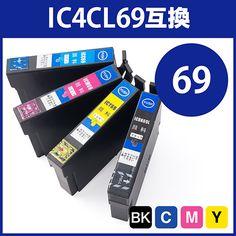 互換インク エプソン IC4CL69対応(大容量・顔料インク・4色セット)
