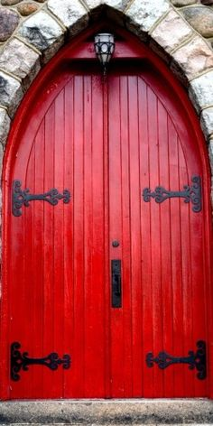 Red and black door