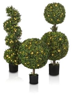 Welcome Easter with this Outdoor LED Boxwood Topiary from Balsam Hill