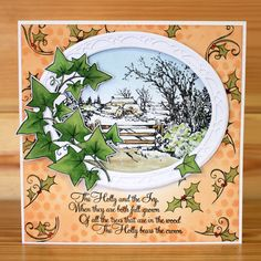 Christmas has arrived at Hobby Art! Introducing 'The Holly & The Ivy' designed by the very talented Sharon Bennett. Clear set contains 13 clear stamps. Overall size of set - 100mm x 260mm approx. Card by Carol Cockbain