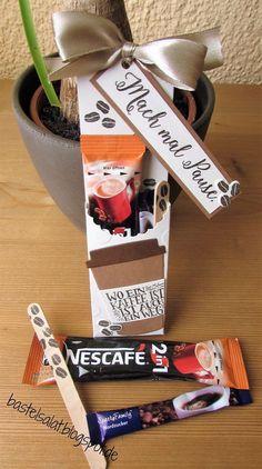 Verpackung für Kaffee Stick und mehr. Stampin' Up!