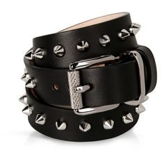 Barbara Bui Bracelet (£125) ❤ liked on Polyvore featuring jewelry, bracelets, belts, black, leather jewelry, barbara bui, studded jewelry and leather bangles