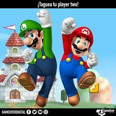 Taguea tu player two! #KeepGaming #Playertwo #Videogames #Gamer #MarioBros