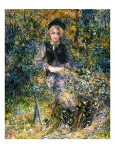 The Girl at the Bank Giclee Print by Pierre-August Renoir at Art.com