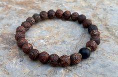 Tibetan Agate Boho Bracelet by BohemianChicbead on Etsy