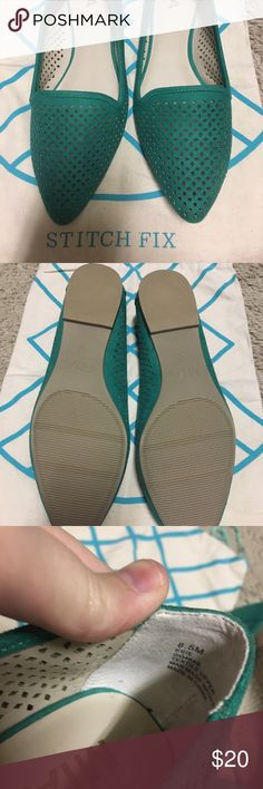 Stitch fix Mia green flats, 8.5 Perfect condition, NWOT- will ship with SF bag Mia Shoes Flats & Loafers