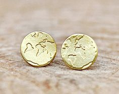 world map earrings – Etsy UK