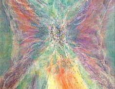 Olen enkelisi -postikortti Pastellikuva: Sinikka Tompuri (Sara)