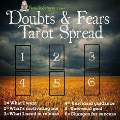 Penniless Pagan: Doubts and Fears Tarot Spread
