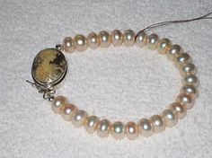 Cameo and button pearls