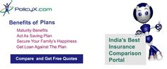 Get Free Comparison Tool for getting the best compare policy,term insurance comparison ,  child plan comparison ,pension plans comparison ,health insurance policies in india  http://www.policyx.com/