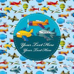 cartoon airplane collection vector