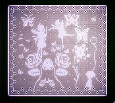 Fairy Garden Filet Crochet pattern pdf