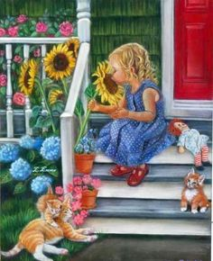 'Sunflowers'  and a little Raggedy Ann!