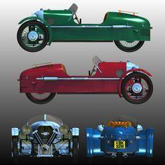 SCALE 1//8th DRAWINGS PLANS OF 1929 MORGAN AERO SUPER SPORTS THREE WHEELER
