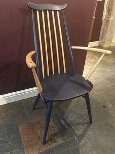 Vintage Ercol Chair Model 369 A Ercol Chair, Furniture, Chair, Ercol Rocking Chair, Upcycle Chair, Upcycled Dining Chairs, Vintage Furniture, Wooden Chair, Shell House