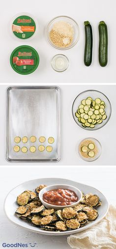 Dippable snacks are perfect for sharing with a crowd of hungry guests and the addition of zucchini to this lightened-up recipe makes it ideal for summer! To make this appetizer, simply serve homemade Garlic Parmesan Zucchini Chips with a side of marinara sauce. They'll be ready in under 30 minutes so you have more time to enjoy with family!