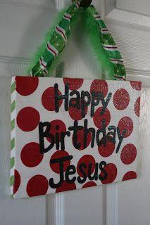 Happy Birthday Jesus Canvas...