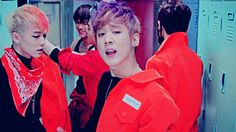 At first I was enthralled by Chunji...but then I noticed Ricky beating someone into a locker  #TeenTopGang