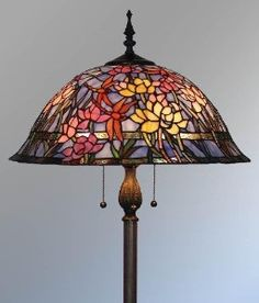 qvc tiffany style stained glass | Tiffany Style Stained Glass Floor Lamp - VL306 | Shop home, interior ...