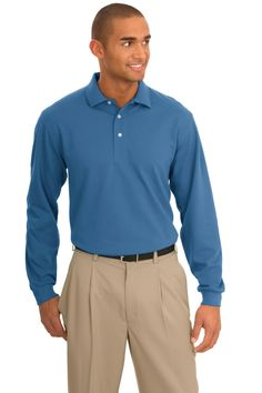 f844a6068d7 Port Authority Tall Rapid Dry Long Sleeve Polo. TLK455LS
