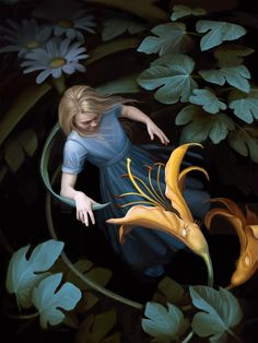 ALICE IN WONDERLAND - AICE IS CRITIQUED BY FLOWERS BY DANE COZENS