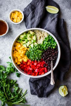 This healthy mango black bean quinoa salad with avocado will be your favorite easy lunch or summer salad to bring to parties. Dressed with a yummy honey chipotle lime dressing for vibrant, bright flavor! Chipotle Dressing, Lime Dressing, Quinoa Salad Recipes Easy, Black Bean Quinoa, Healthy Snacks, Healthy Recipes, How To Cook Quinoa, Summer Salads, Mango