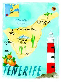 Tenerife map by Scott Jessop, June 2013 issue, Sunday Times Travel Magazine