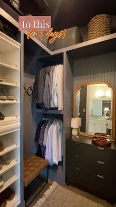 Small Master Closet, Small Closet Design, Bedroom Closet Design, Master Bedroom Closet, Closet Designs, Wardrobe Design, Small Walk In Closet Ideas, Diy Closet Ideas, Walk In Closet Small