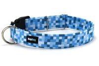 Collier pour chien Pixel Bleu www.hopdog.fr