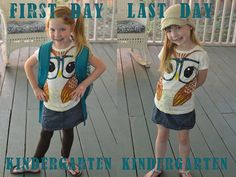 Documenting your child in the outfit on the first and last day of school