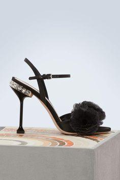 8573d0b5eda4 Buy Miu Miu Flower sandals online on 24 Sèvres. Designer Shoes