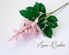 French Beaded Astilbe Flowers