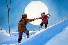 John Schoenherr illustration from Owl Moon