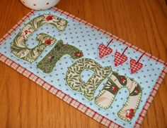 See The Patchsmith's Projects on Craftsy   Support Unique. Buy Indie. - I know someone who could use this :) Small Quilts, Mini Quilts, Mug Rug Patterns, Quilt Patterns, Christmas Mug Rugs, Christmas Quilting, Alphabet Templates, Small Sewing Projects, Sewing Ideas