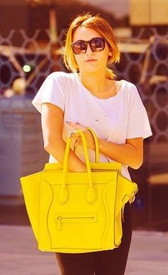Love this dramatic yellow by Celine