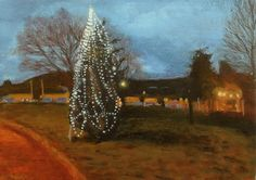 ' Christmas tree' Oil on paper 25 X 35 cm