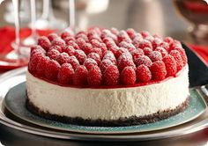Driscoll's Raspberry Cheesecake with Grand Marnier.  |  Driscolls.com