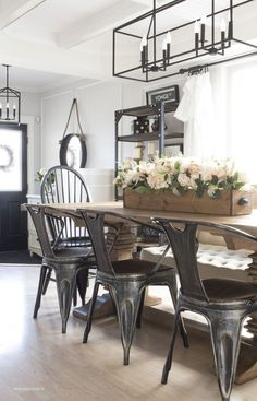 Awesome 45 Modern Farmhouse Dining Room Decorating Ideas Lovelyving