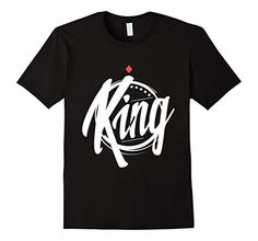 Men's Couple Shirts - T-shirt King and Queen - Cool Valentine Gift Small Black - Brought to you by Avarsha.com