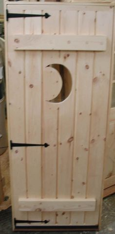 Custom outhouse door for inside the home! & Outhouse Door Cover | Doors Outhouse bathroom and Western bar