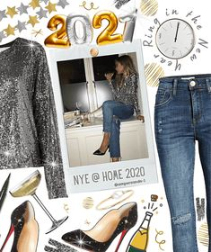 ring in the new year Outfit | ShopLook New Years Outfit, New Years Eve Outfits, Nye Outfits, Outfit Maker, Ring, Polyvore, How To Wear, Fashion, Moda