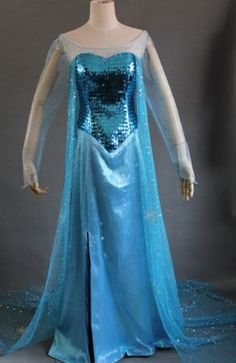Disney Princess 2013 New Disney Movies Frozen Snow Queen Elsa Cosplay Costume Classic Halloween Dress Custom Any Size on Etsy, $188.00