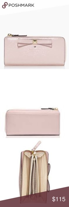 NWT Kate Spade Nisha Beacon Court Wallet ✨make me an offer✨ NWT, never used. Ballet slippers is color. Beautiful light pink wallet big enough to hold all your money. kate spade Bags Wallets